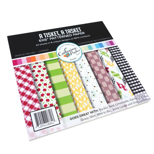 A Tisket, A Tasket, Catherine Pooler Patterned Paper -    819447028313
