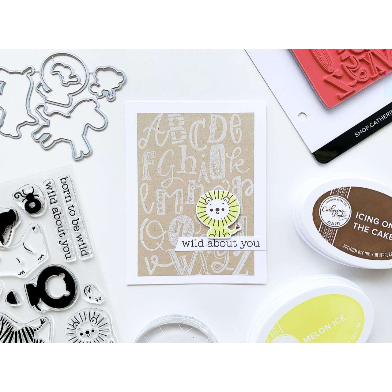 A to Z Background, Catherine Pooler Cling Stamps - 819447027439