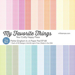 Petite Gingham, My Favorite Things Paper Pack - 849923036006