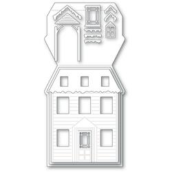 Winter House Pop Up Easel, Poppystamps Dies -