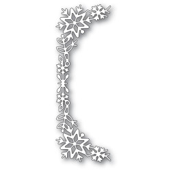 Snowflake Tall Curve Border, Poppystamps Dies -