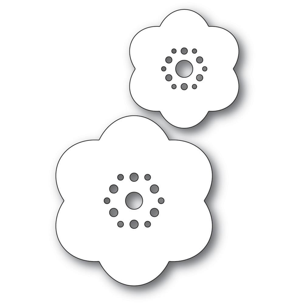 Rounded Bloom Flowers, Poppystamps Dies -