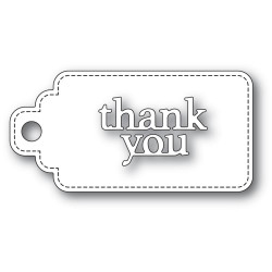 Thank You Stitched Tag, Poppystamps Dies -