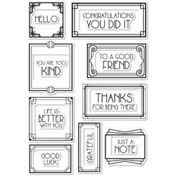 Art Deco Frames and Phrases, Poppystamps Clear Stamps -