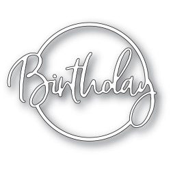 Birthday Cursive Script Circle, Memory Box Dies -