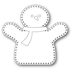 Plush Hugging Snowman, Memory Box Dies -
