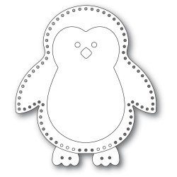 Plush Big Penguin, Memory Box Dies -