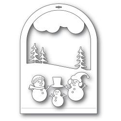 Snowmen Snowglobe, Memory Box Dies -