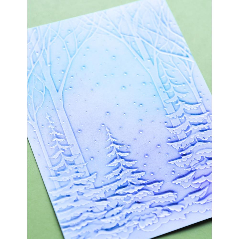 Snowy Forest 3D, Memory Box Embossing Folders -