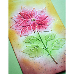 Magnificent Poinsettia 3D, Memory Box Embossing Folders -