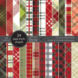 Christmas Plaid, Memory Box 6 x 6 Paper Pad -