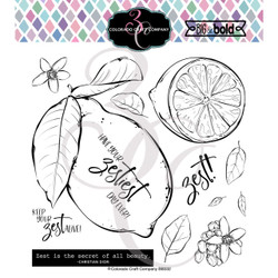 Lemon Zest, Colorado Craft Company Clear Stamps -