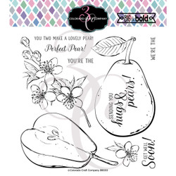 Hugs & Pears, Colorado Craft Company Clear Stamps -