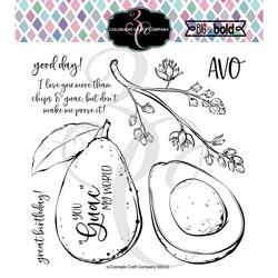 Avocado Love, Colorado Craft Company Clear Stamps -