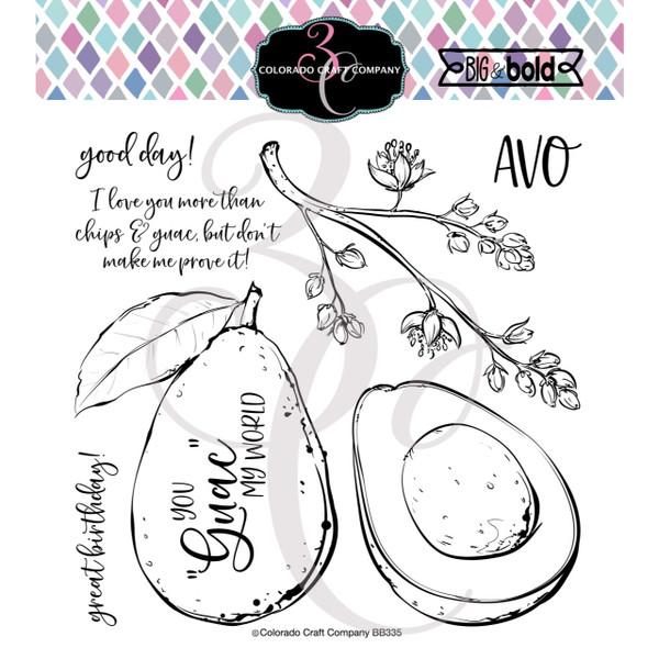 Avocado Love, Colorado Craft Company Clear Stamps -