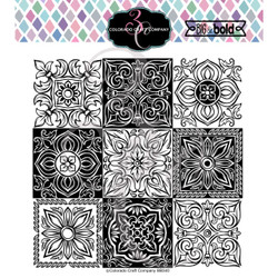 Small Italian Tiles, Colorado Craft Company Clear Stamps -