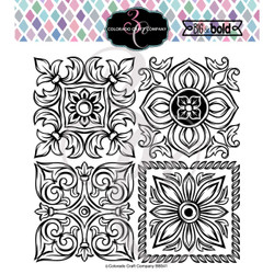 Large Italian Tiles, Colorado Craft Company Clear Stamps -