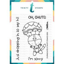 Purrachute, Trinity Stamps Clear Stamps -