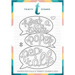 Paper Pep Talk, Trinity Stamps Clear Stamps -
