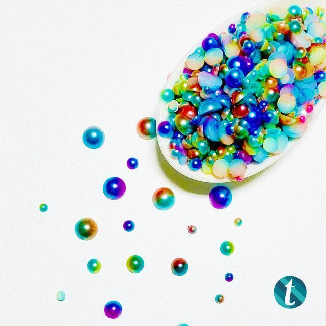Rainbow Fish, Trinity Stamps Embellishments -