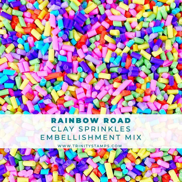 Rainbow Road, Trinity Stamps Embellishments -