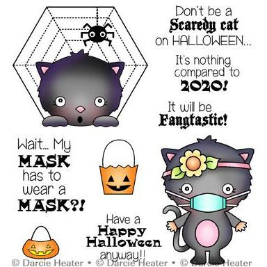 Scary Halloween, Darcie's Clear Stamps -
