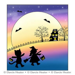In the Moonlight, Darcie's Clear Stamps -