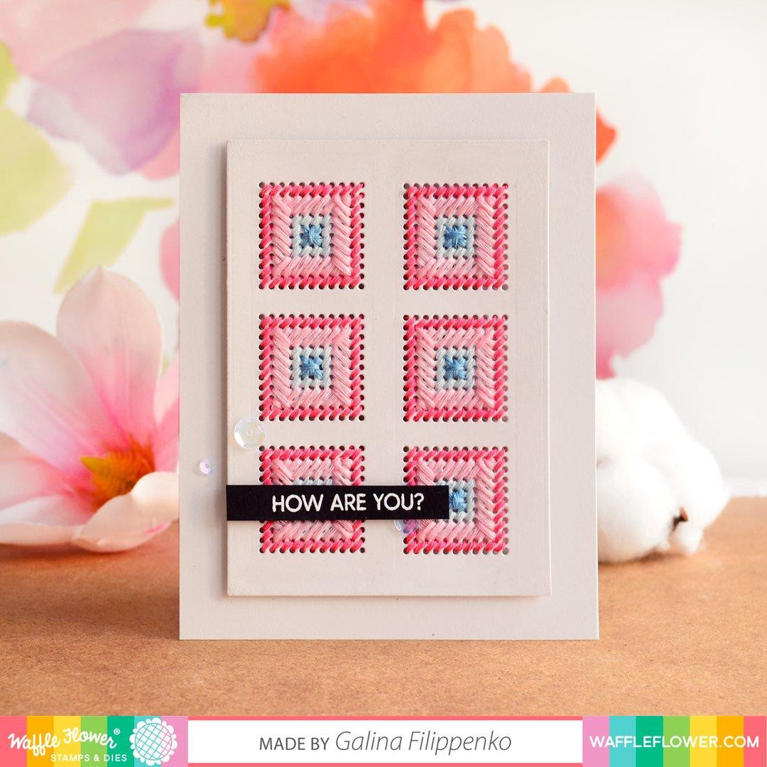 Stitchable Squares, Waffle Flower Dies - 780348638829