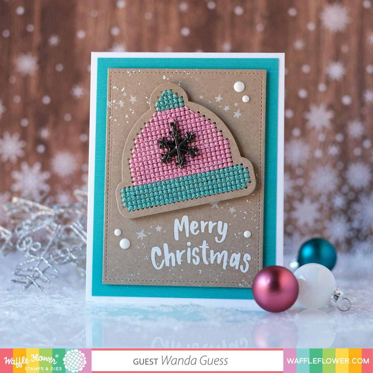 2-Step Merry Christmas, Waffle Flower Clear Stamps - 780348639215