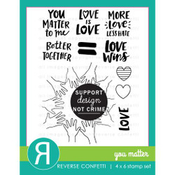 You Matter, Reverse Confetti Clear Stamps -