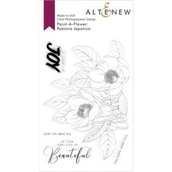 Paint-A-Flower: Paeonia Japonica Outline, Altenew Clear Stamps - 737787266564