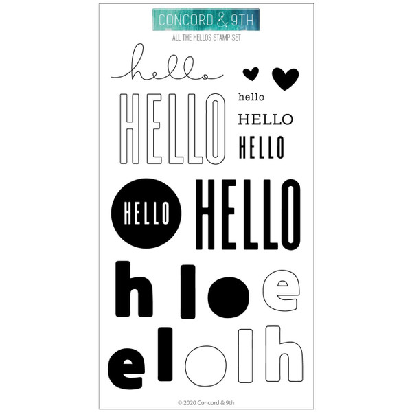 All the Hellos, Concord & 9th Clear Stamps - 090222401549