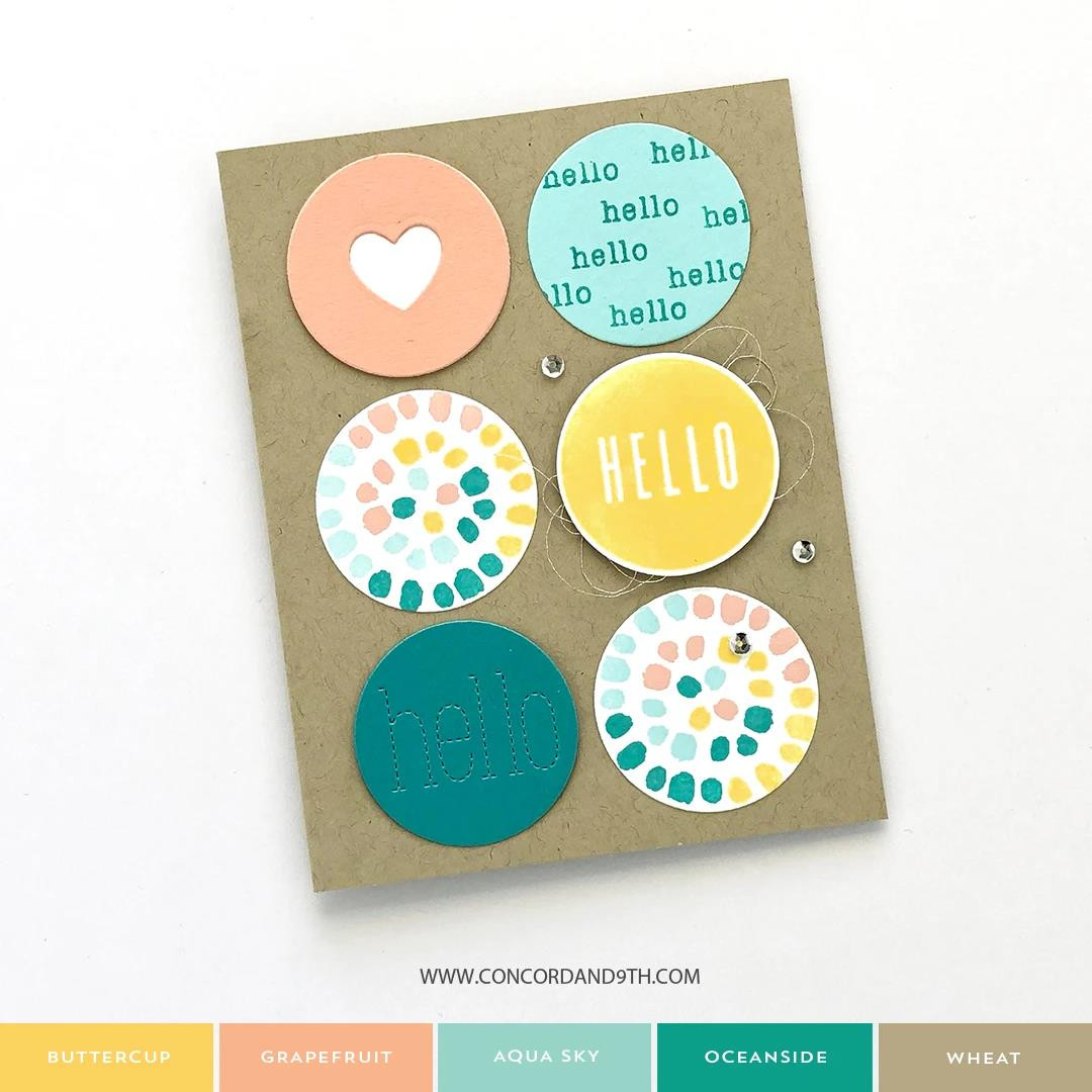 Painted Dots Turnabout, Concord & 9th Clear Stamps - 090222401600