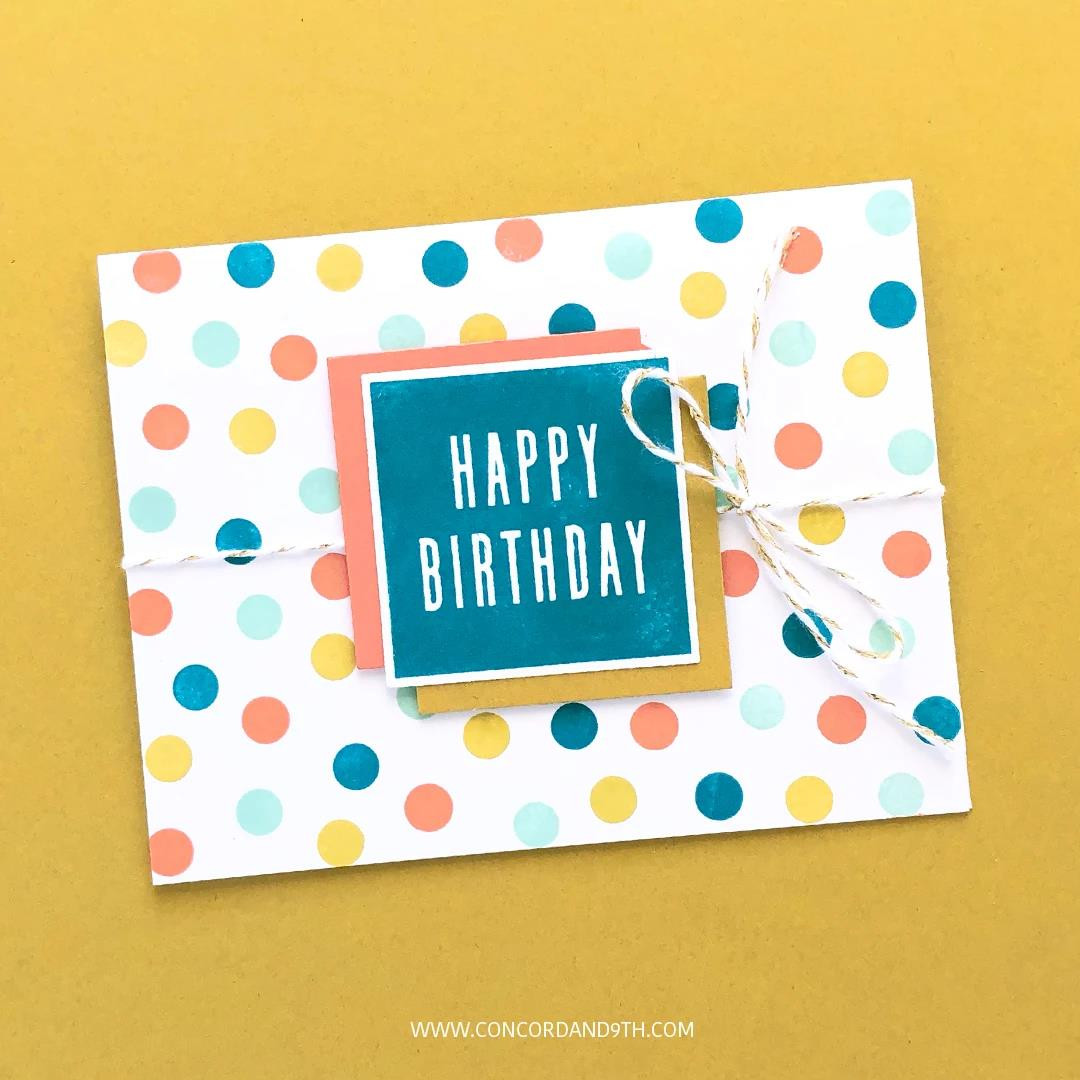 All the Birthdays, Concord & 9th Clear Stamps - 717932697818