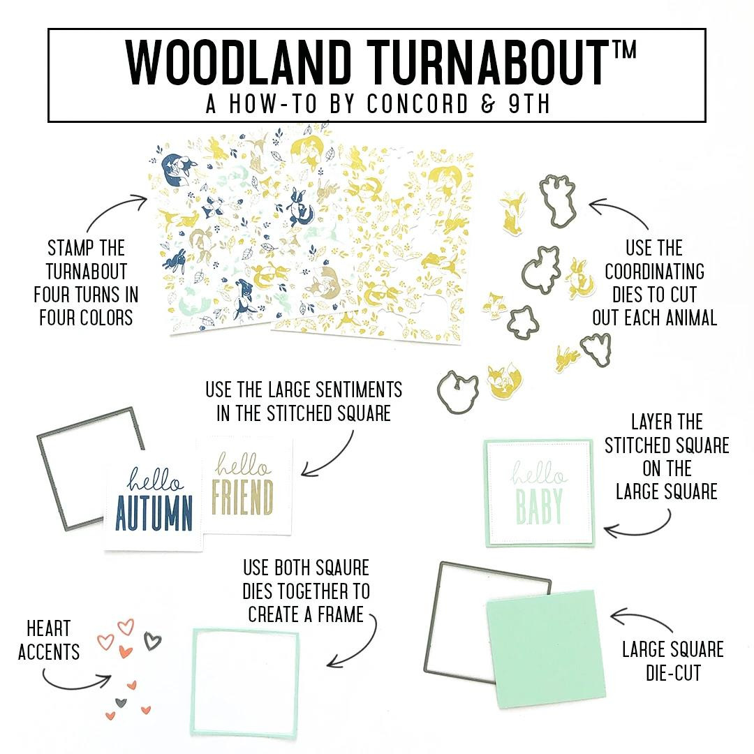 Woodland Turnabout, Concord & 9th Clear Stamps - 717932697832