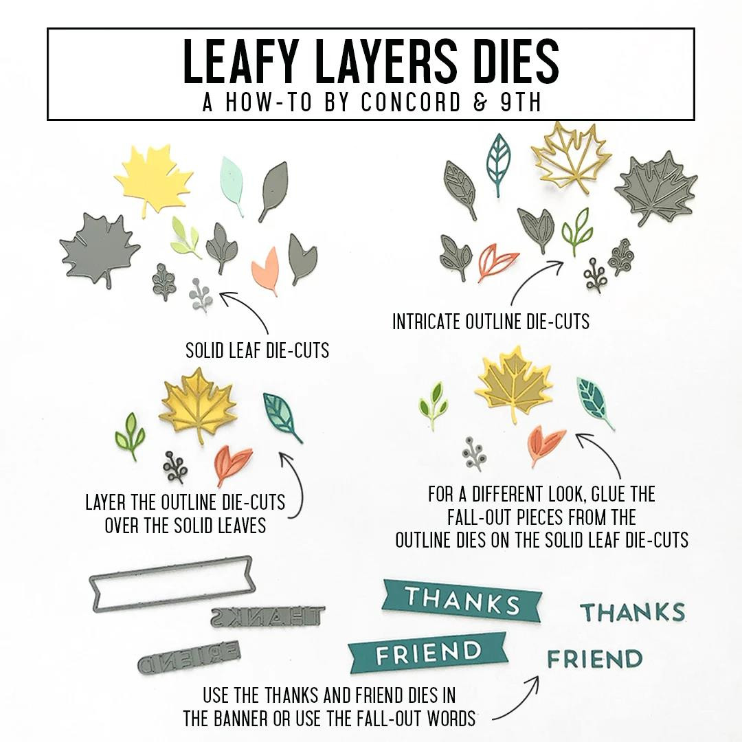Leafy Layers, Concord & 9th Dies - 717932697856