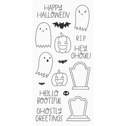 Ghostly Greetings, My Favorite Things Clear Stamps - 849923036150