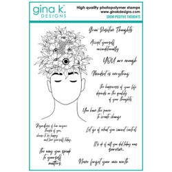 Grow Positive Thoughts, Gina K Designs Clear Stamps - 609015526767