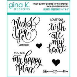 Hearty Greetings, Gina K Designs Clear Stamps - 609015526583