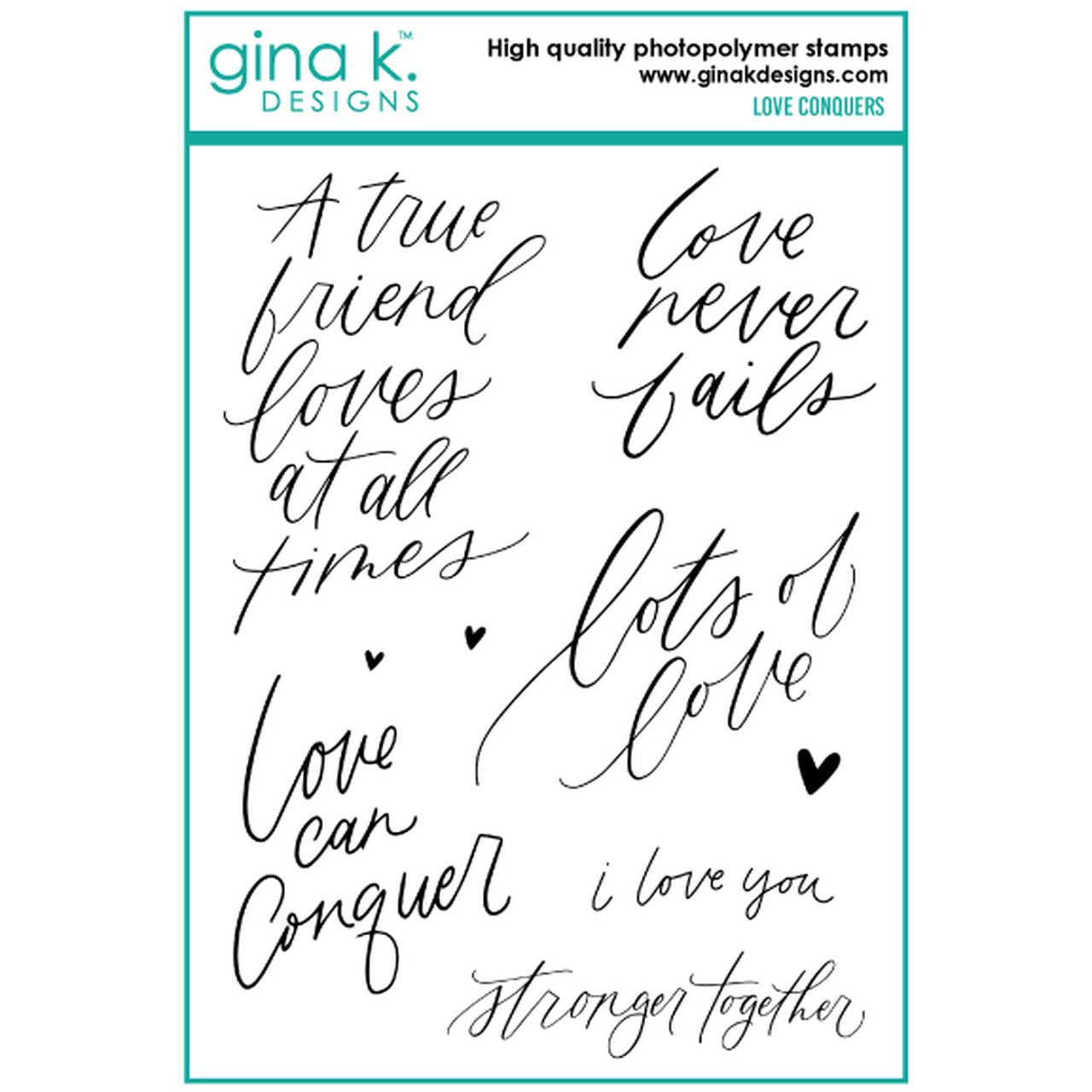 Love Conquers, Gina K Designs Clear Stamps - 609015526750