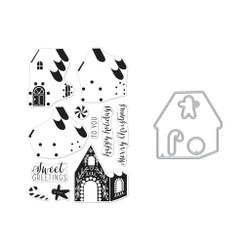 Color Layering Gingerbread House, Hero Arts Stamp and Die Combo - 085700928137