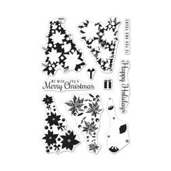 Color Layering Poinsettia Christmas Tree, Hero Arts Clear Stamps - 085700927628