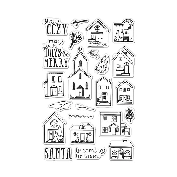Cozy Town, Hero Arts Clear Stamps - 085700927680