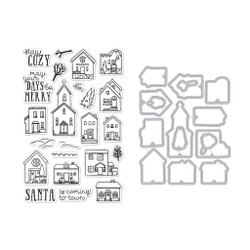 Cozy Town, Hero Arts Stamp and Die Combo - 085700928151