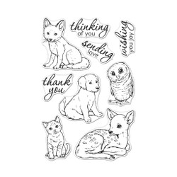Fawn and Friends, Hero Arts Clear Stamps - 085700927789