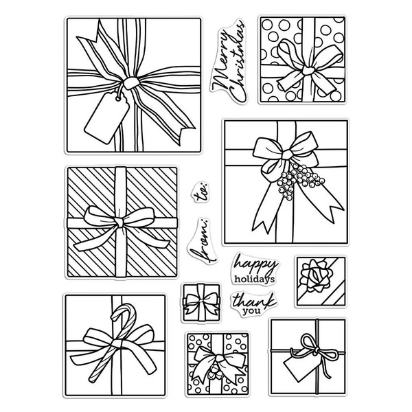 Gift Peek-A-Boo Infinity Parts, Hero Arts Clear Stamps - 085700927642