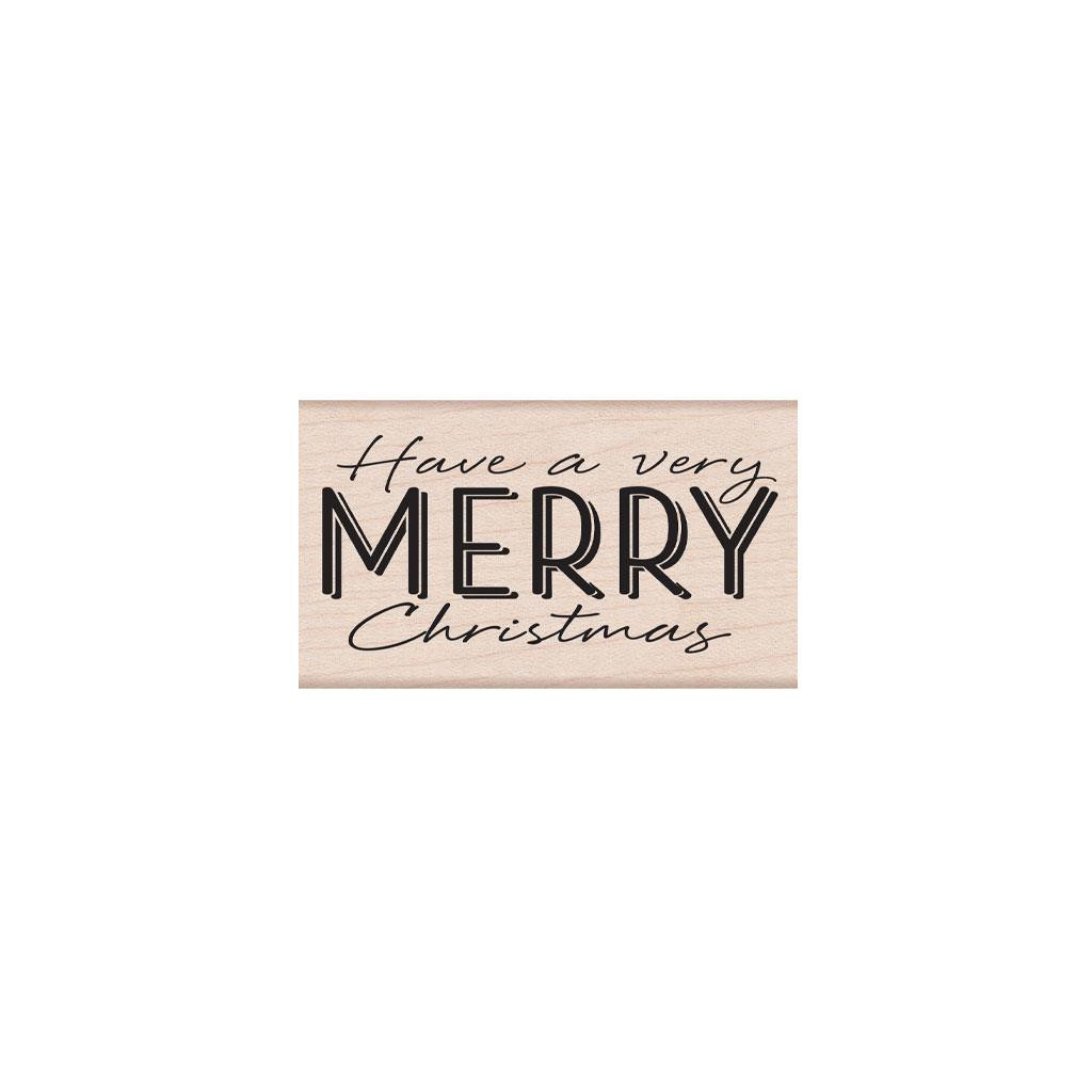 Have a Very Merry Christmas, Hero Arts Wood Block Stamps - 085700927765