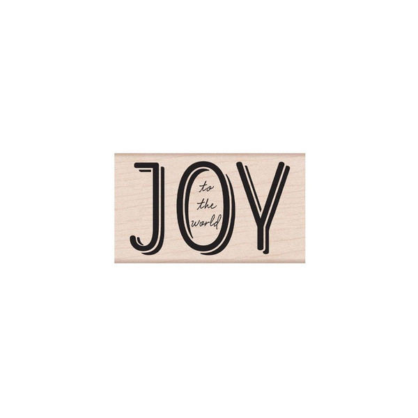 Joy to the World Mixed Font, Hero Arts Wood Block Stamps - 085700927888