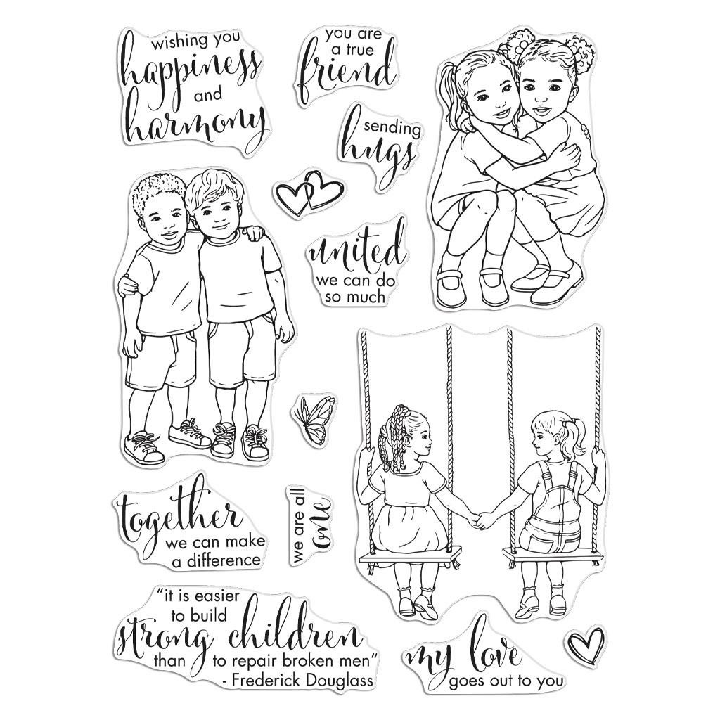 Kids United, Hero Arts Clear Stamps - 085700928335