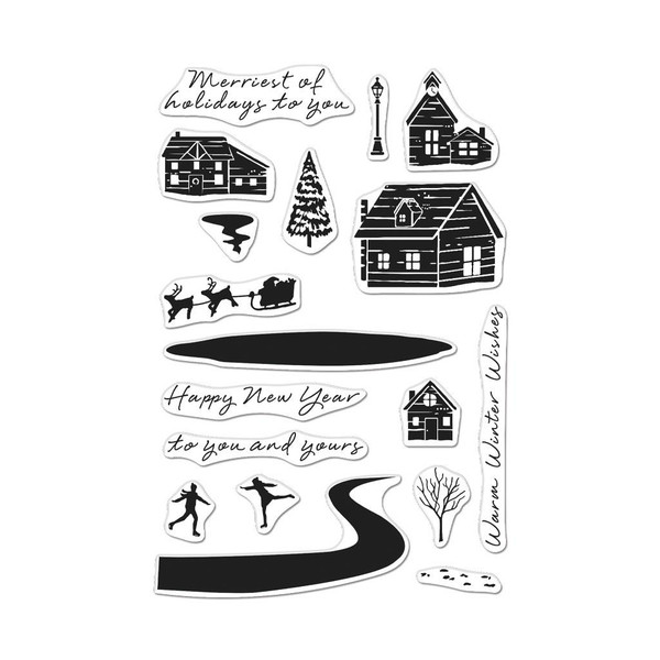 Snowy Town, Hero Arts Clear Stamps - 085700927772